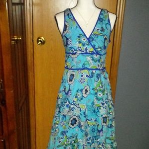 George Blue Floral Womens Dress Size 6